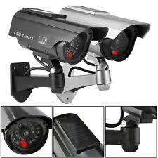 Solar Powered Dummy Security Camera CCTV Surveillance Cam Fake IR LED