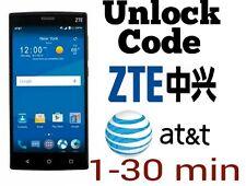 Unlock code AT&T ZTE Z812 maven Z830 compel Z831 max Z958 Z998 Z992 Z990 Z740