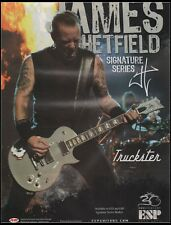Original 2005  Print Ad ESP Guitar Hetfield Series Truckster Advertisement