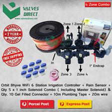 "Orbit B-Hyve 6 Station WiFi Combo -Qty 5 x 1"" 25mm Solenoids, Rain Sensor & Wire"
