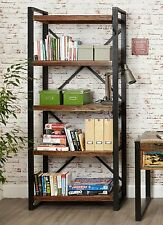 Agra reclaimed wood furniture large open living room office bookcase