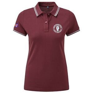 Women's Northern Soul Tipped Polo Shirt With Embroidered Fist Logo. Mod, Retro.