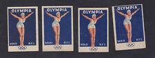 4 Ancienne étiquette Allumettes Tchécoslovaquie 120242 Femme Olympique Natation