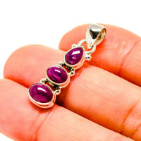 """Ruby 925 Sterling Silver Pendant 1 1/4"""" Ana Co Jewelry P753594F"""