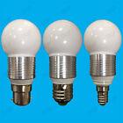 10x 3W LED Ultra Bassa Energia,Bianco Caldo,Golf Lampadine,B22,E27/E14 lampadine