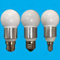 8x 3W LED Ultra Low Energy, Warm White, Golf Light Bulbs, B22, E27 or E14 Lamps