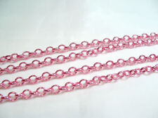 2 metres x Metal Belcher Chain - BNChain22 Pink