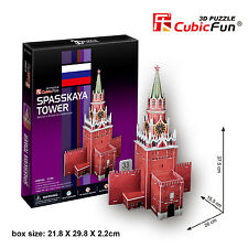 New Spasskaya Tower Moscow Russia 3D Paper Model Jigsaw Puzzle 33 Pieces C118H