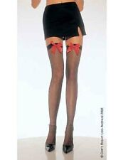 Sexy  Fishnet Holdup Thigh High Stockings with Satin Bow (Leg Avenue 9018)
