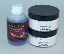 100ml Acrylic Liquid + 40g White French + 40g Pink/Clear Natural Acrylic Powder