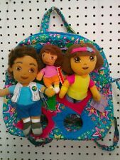 Dora The Explorer & go Diego go plush doll keychain & Jackpopz backpack bag toy