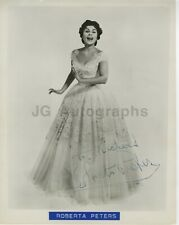 New ListingRoberta Peters - Classic Opera Singer - Signed 8x10 Photograph