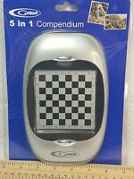 Gelert 5 In 1 Game Compendium Chess Checkers Draughts Solitaire Nine Mens Morris