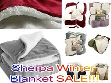Empire Home Queen Size Sherpa Reversible Fur Winter Blanket - NEW ARRIVAL SALE