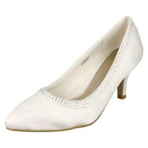 Anne Michelle F9R805 Damen Elfenbein Satin Schuhe (R13A)