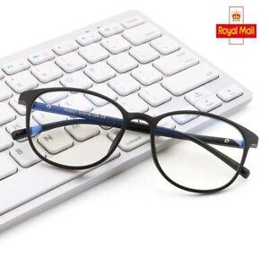 UK BLUE LIGHT BLOCKING Glasses Anti Glare Fatigue UV Filter Gaming Computer