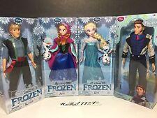 "Authentic Disney Store Frozen HANS, KRISTOFF, ANNA, ELSA 12"" Classic Doll Set"
