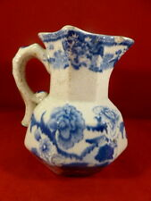 "RARE ANTIQUE MASONS SMALL 4.25"" BLUE & WHITE HYDRA JUG c1820"