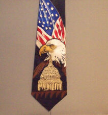 Steven Harris AMERICAN FLAG BOLD EAGLE Patriotic Polyester Neck Tie #832