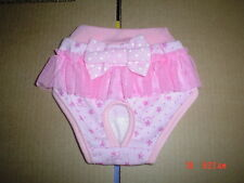 Cute Pink Dog Knickers Panties Season Knickers Tutu Bow Large
