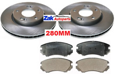 FOR HYUNDAI TUCSON (2004-2010) TWO FRONT BRAKE DISCS AND PADS SET NEW (280MM)