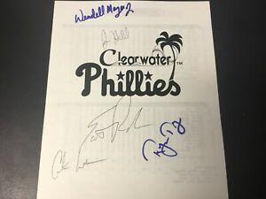 Scott Rolen Signed 1995 Clearwater Phillies Minor League Stat Program Autograph