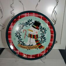 Christmas Snowman Holiday Platter New
