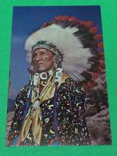 "Vintage Postcard ""Indian Chiefs In Tribal Full Dress Regalia """