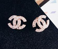 HOT Women Rose Pearl Silver/Gold Crystal Rhinestone Ear Stud Flower Earrings New