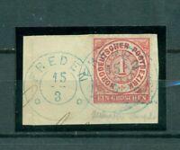 Norddeutscher Bund, Wertziffer im  Oval,Nr.4 auf Briefst., blauer Stempel Freden