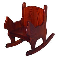 Children's Furniture - Toddlers Oak Cat Shaped Chair/Rocker  - Amish Made in USA