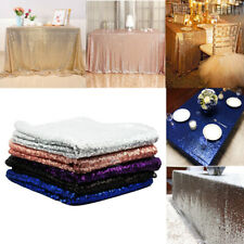 Sequin Tablecloths Table Cloth Cover Xmas Banquet Wedding Event Party Tableware