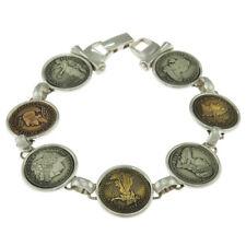 8 in - 925 Sterling Silver Replicas of U.S. Coins Bracelet