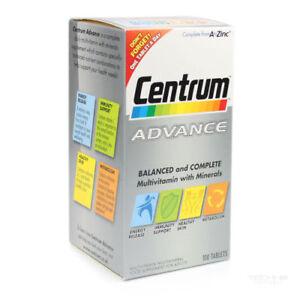 Centrum Advance Multivitamin/ Multimineral 3 x 100 Tablets  NEW sealed