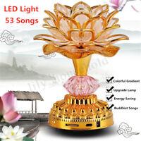 53 Buddhismus Lied 7 LED Farben Lotus Buddha Musik Machine Lampe Dekor Haus