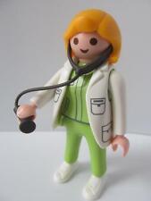 Playmobil lady Médecin ou Vet avec Stéthoscope nouvel hôpital/animal Clinic Figure