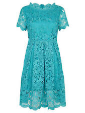 Yumi Curves Guipure Lace Dress, Jade UK 22