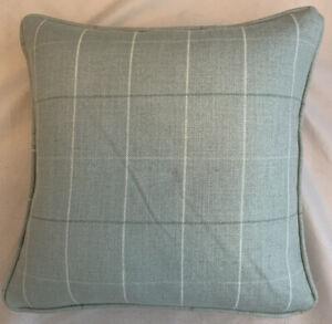 A 16 Inch cushion cover in Laura Ashley Elmore Duck Egg Fabric