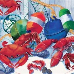 Seafood Celebration Beverage Napkins 16 Pack Nautical Cruise Party Birthday