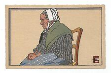 vielle femme de Vilo-Novo par Georges Géo-Fourrier carte postale ancienne/cp674
