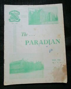 Mar 1941 The Paradian Vol. 7 No. 1. School Magazine Christian Brothers Parade Te