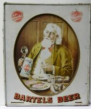 Bartels Beer Professor, tin-self framed Pre-pro. Edwardsville, Pa