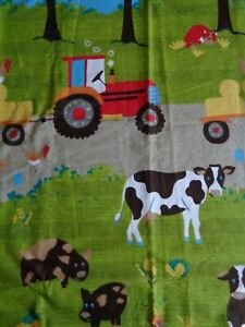 Childrens Farmyard Animal and Tractor Curtains