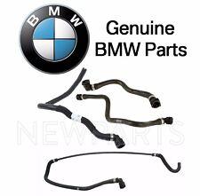 BMW E65 E66 750i 750Li Alpina B7 Set of Four Engine Coolant Water Hoses Genuine