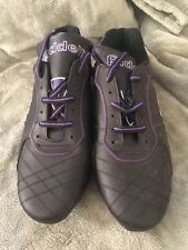 Game ON!! Riddell Sidekick Soccer Cleats Men's Size 10.5 Black Purple Pair #3