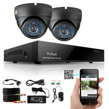 Funlux 8 Kanal HDMI DVR Überwachungssystem 2 Außen 700TVL Überwachungskamera SET