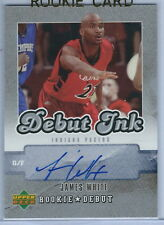 06-07 Upper Deck Rookie Basketball James White Debut Ink Pacers Rookie Autograph
