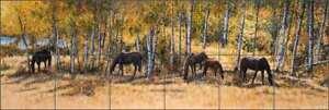 Horse Tile Mural Liz Mitten Ryan Glass Backsplash EWH-LMR004