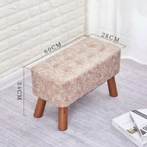 Solid Wood Shoe Changing Small Stool Long Sofa Stool Wooden Low Stool Bench