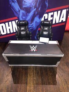 WWE BREAKABLE ANNOUNCERS TABLE WRESTLING FIGURE ACCESSORY MATTEL SET COMMENTATOR